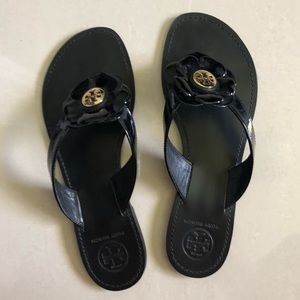Tory Burch Black Breely Patent Leather Sandal